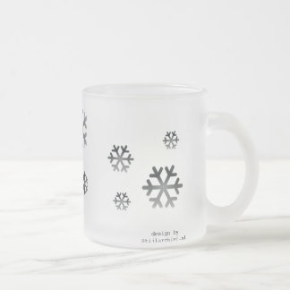 Sulk of mat glass frosted glass coffee mug