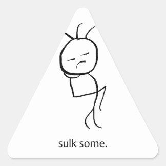 Sulk Some Triangle Sticker
