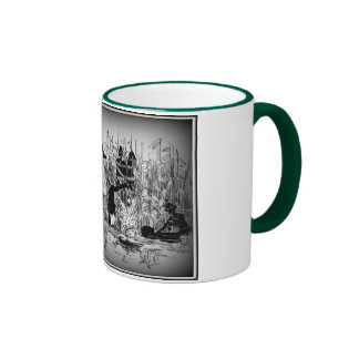 Sulk with cannibals on hunting ringer coffee mug