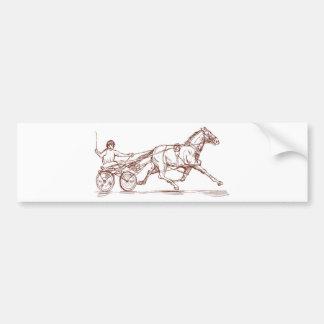 sulkies de la carrera de caballos del carro del ar pegatina de parachoque