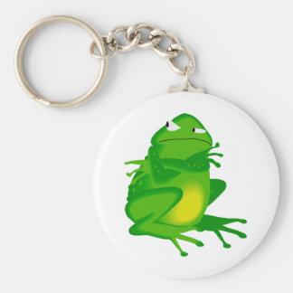 Sulking Frog Keychain