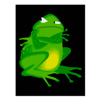 Sulking Frog Postcard