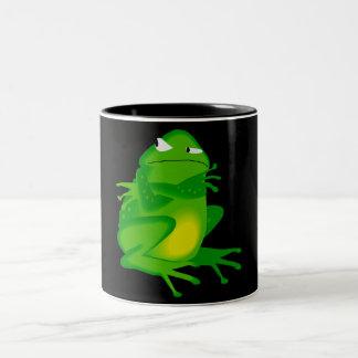 Sulking Frog Two-Tone Coffee Mug