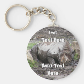 Sulking Rhino Keychain