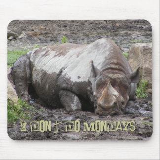 Sulking Rhino Mousepad