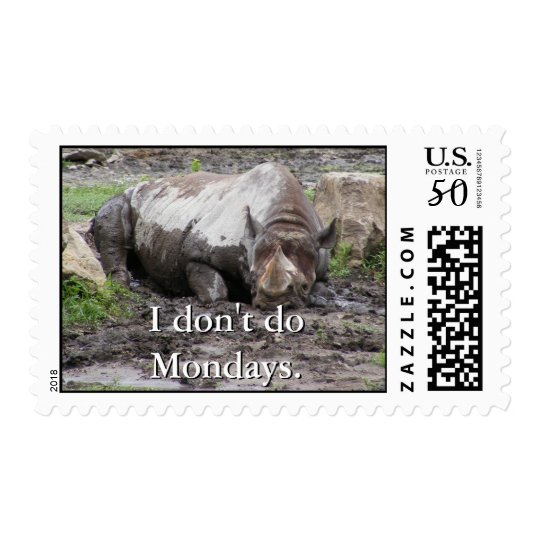 Sulking Rhino Postage
