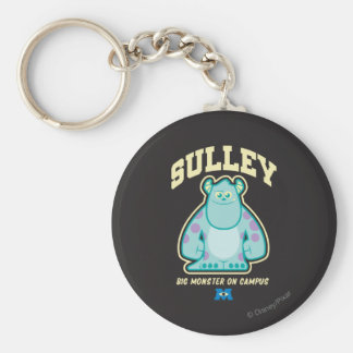 Sulley Big Monster on Campus Basic Round Button Keychain