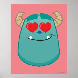 Sulley Emoji Poster