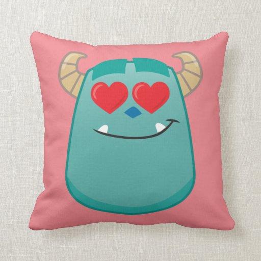 Throw Pillows Elegant : Sulley Emoji Throw Pillow Zazzle