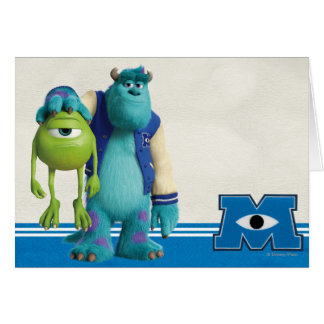 Sulley Holding Mike Greeting Card