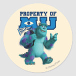 Sulley Property of MU Classic Round Sticker