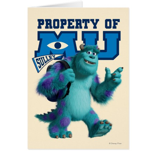 Sulley Property of MU Greeting Card