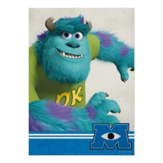 Sulley Running Poster
