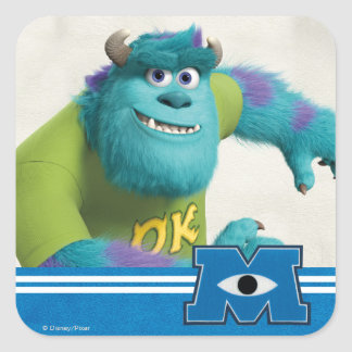 Sulley Running Square Sticker
