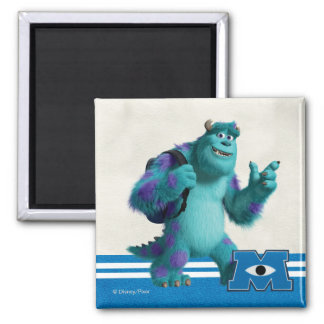 Sulley with Backpack 2 Inch Square Magnet