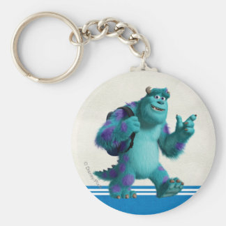 Sulley with Backpack Basic Round Button Keychain