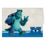 Sulley with Backpack Greeting Card
