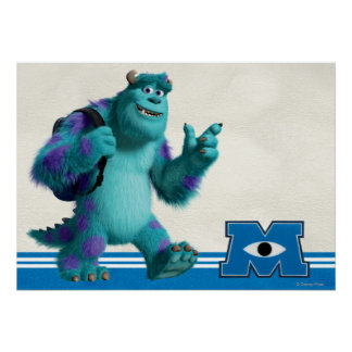 Sulley with Backpack Poster