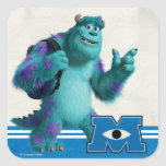Sulley with Backpack Square Sticker