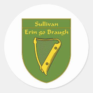 Sullivan 1798 Flag Shield Round Stickers