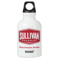 Sullivan Branding White Aluminum Water Bottle