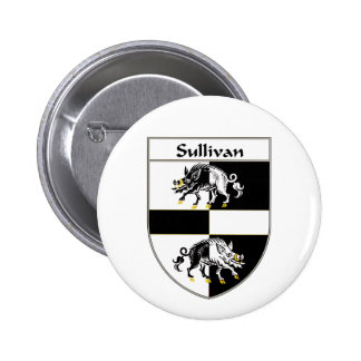 Sullivan Coat of Arms/Family Crest Pinback Buttons