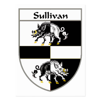 Sullivan Coat of Arms/Family Crest Postcard