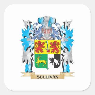 Sullivan Coat of Arms - Family Crest Square Stickers