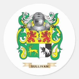 Sullivan Coat of Arms (Family Crest) Classic Round Sticker