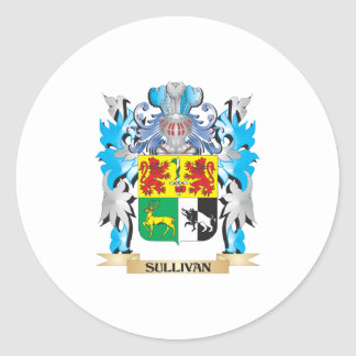 Sullivan Coat of Arms - Family Crest Round Stickers