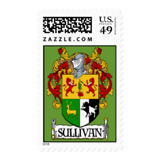 Sullivan Coat of Arms Postage Stamp