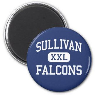 Sullivan Falcons Middle Rock Hill Fridge Magnet