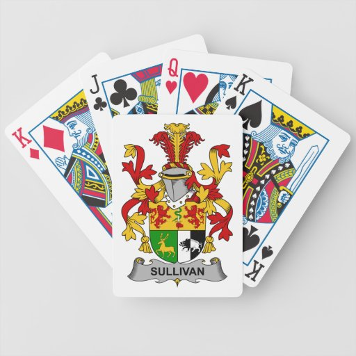 Sullivan Family Crest Bicycle Playing Cards