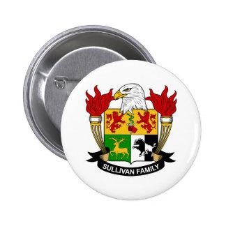 Sullivan Family Crest Buttons
