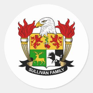 Sullivan Family Crest Classic Round Sticker