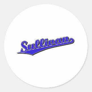 Sullivan in Blue Round Sticker