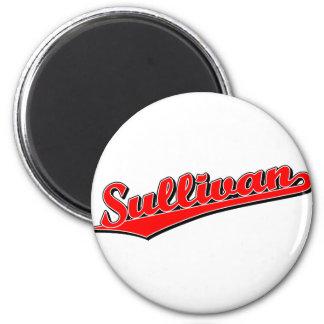 Sullivan in Red 2 Inch Round Magnet