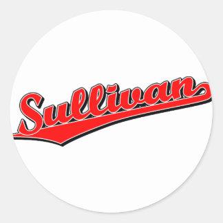 Sullivan in Red Sticker