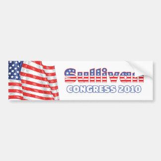 Sullivan Patriotic American Flag 2010 Elections Bumper Sticker