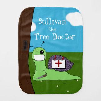 Sullivan the Tree Doctor Burp Cloth