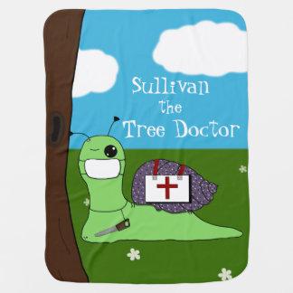 Sullivan the Tree Doctor Swaddle Blanket