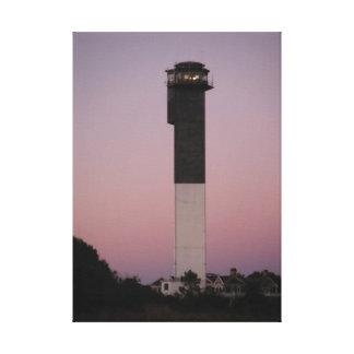 Sullivan's Island Lighthouse and Sunset Sky Canvas Print