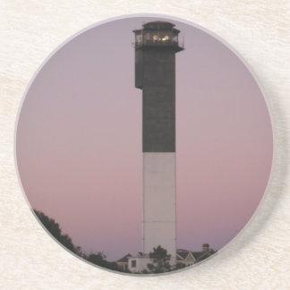 Sullivan's Island Lighthouse at Sunset Sandstone Coaster