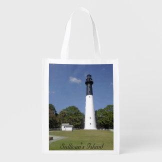 Sullivan's Island Lighthouse Reusable Grocery Bag