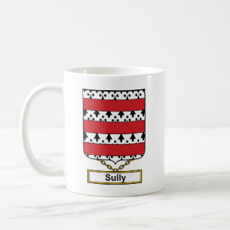 Sully el escudo de la familia taza