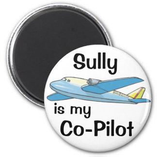 Sully es mi copiloto imán redondo 5 cm