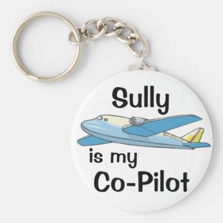 Sully es mi copiloto llavero redondo tipo pin