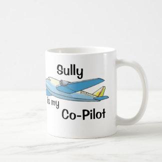 Sully es mi copiloto taza básica blanca