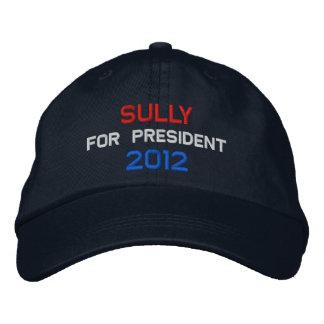 Sully for president 2012 embroidered baseball caps