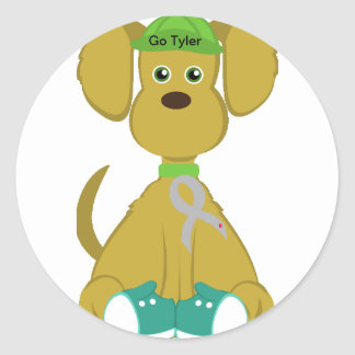 Sully the Diabetes Dog Stickers-Customize Name Classic Round Sticker